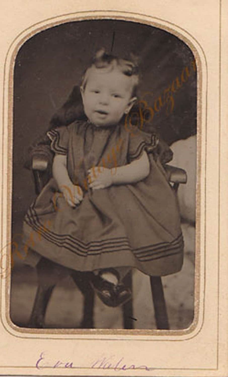 Tintype Photo Circa 1800s Baby Girl