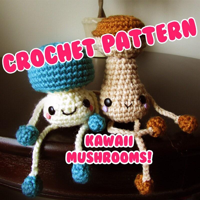 Cute Amigurumi Crochet Patterns : Items similar to cute & kawaii mushrooms - crochet ...