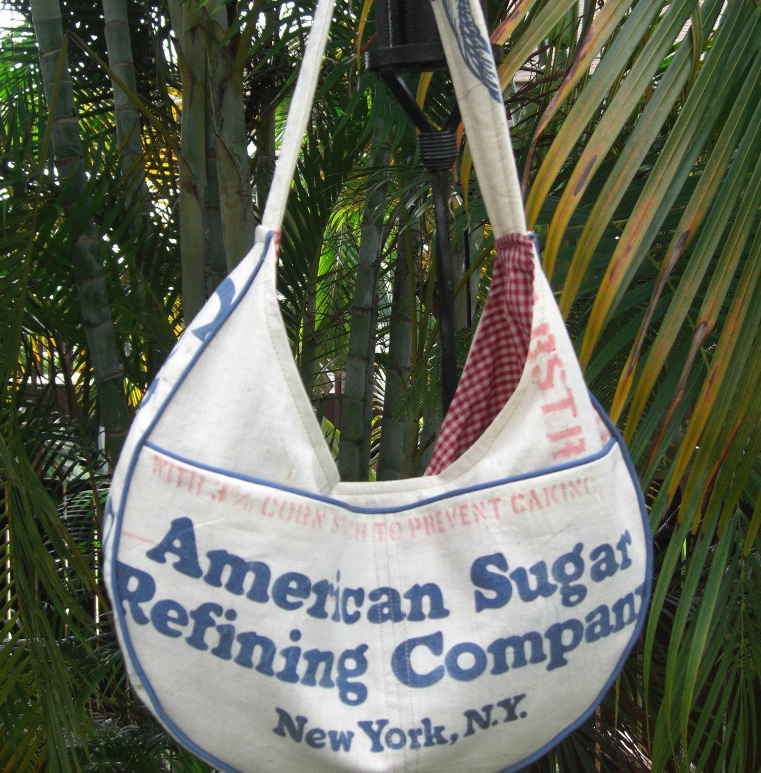 recycled white sugar cane purse