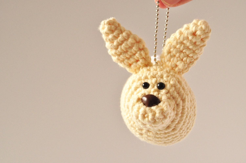 Little Bunny Keychain - CROCHET PDF PATTERN - ThePudgyRabbit