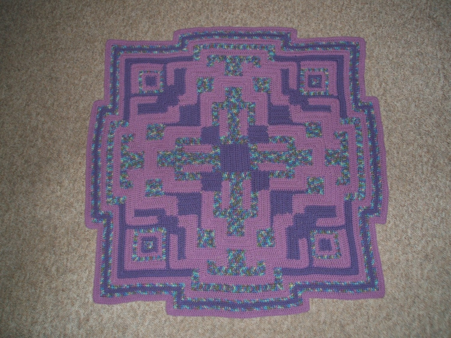 Perfection in Purple Afghan