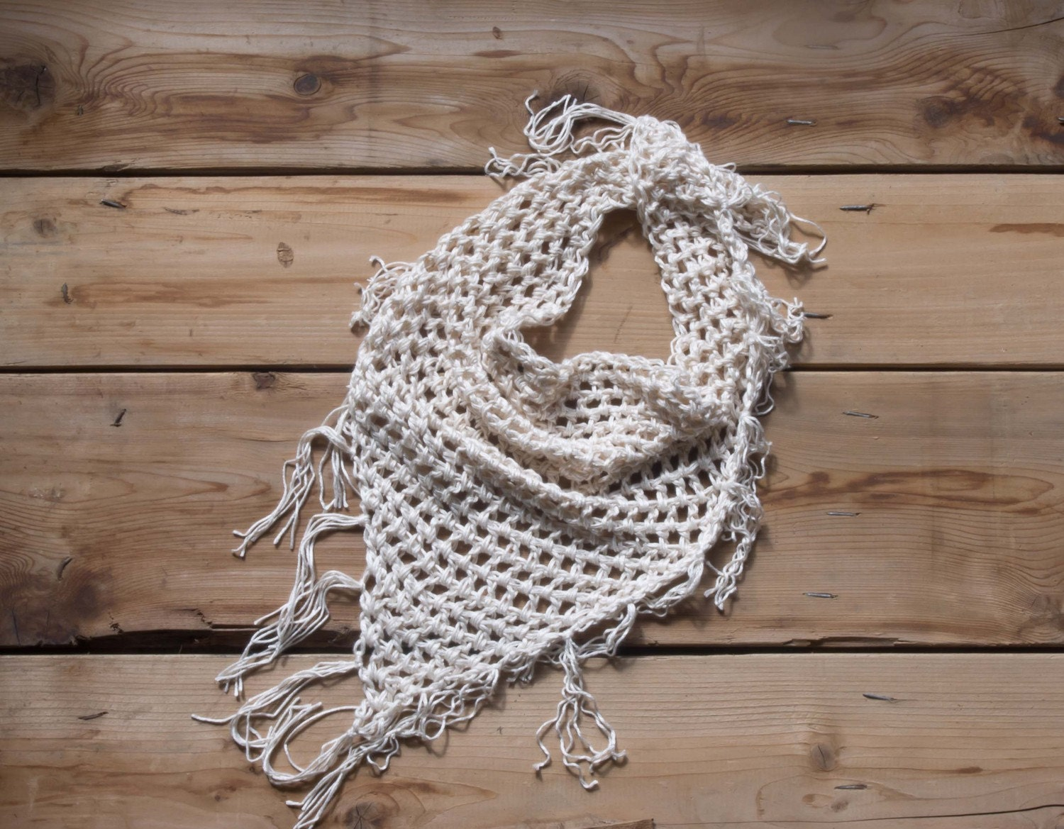 the chunky summer shawl - white