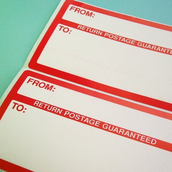red mailing labels - 25
