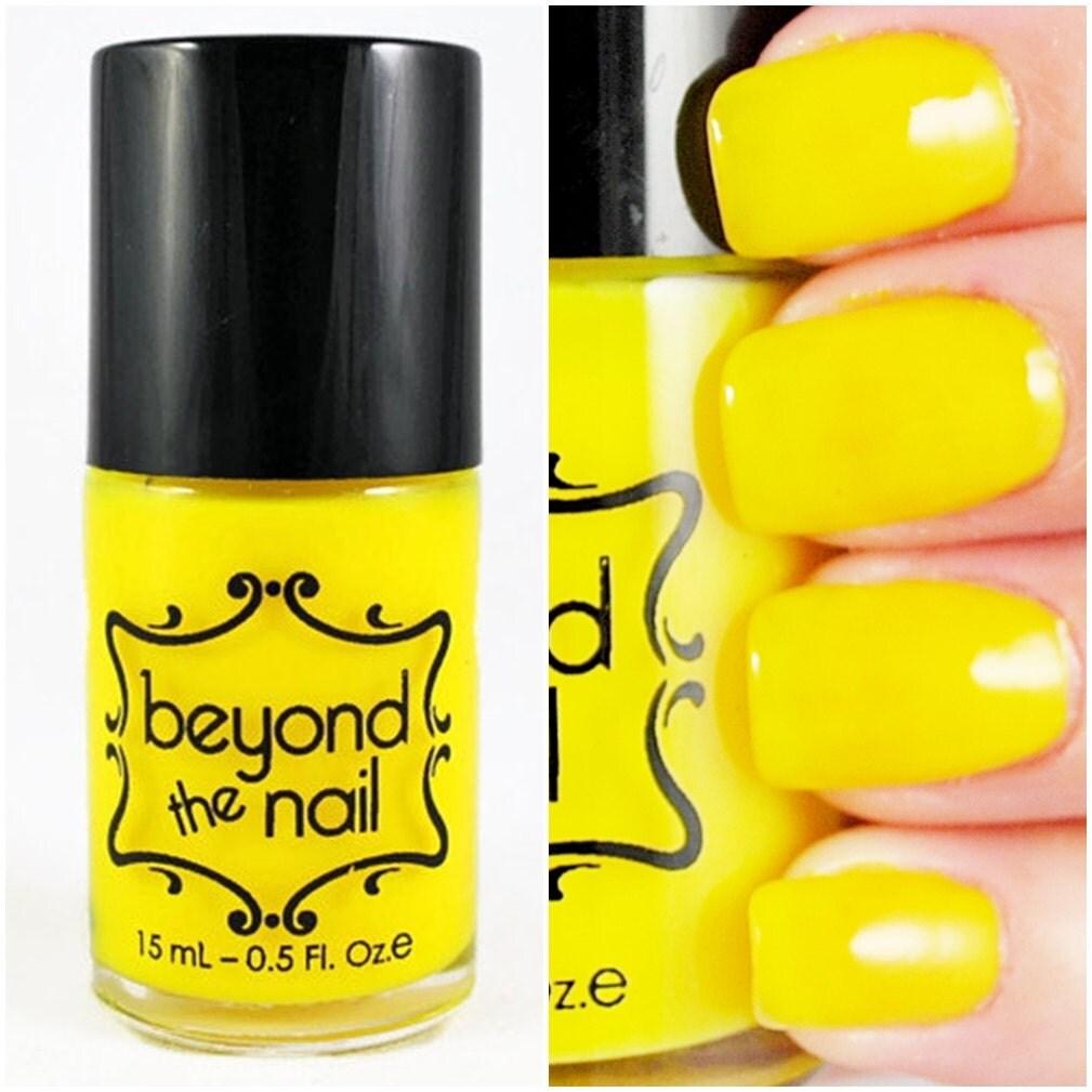 Neon Yellow Nail Polish UV Reactive By Beyondthenail On Etsy