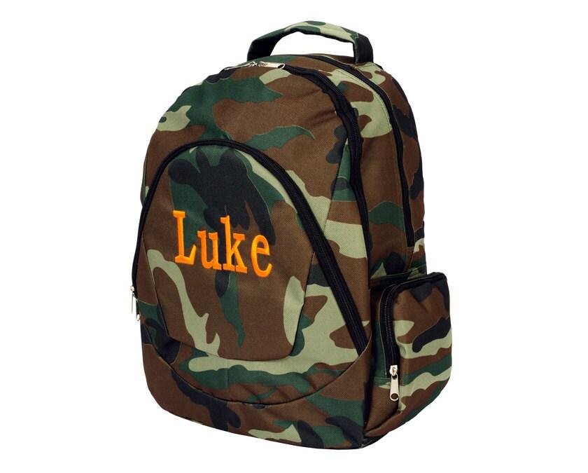 camo backpack boys bookbag book bag back to by thepurplepetunia