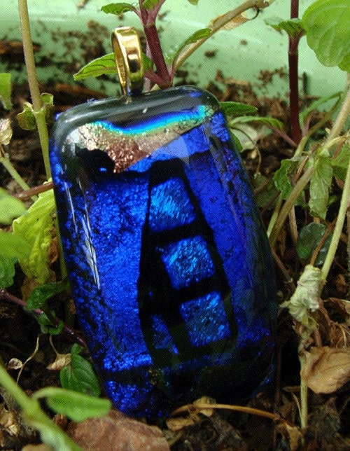 Durango blue glass pendant