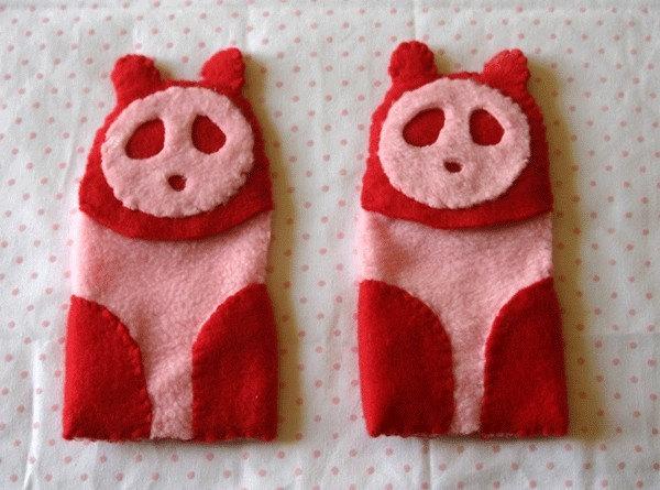 SALE iPanda Red Fleece iPod Cozy