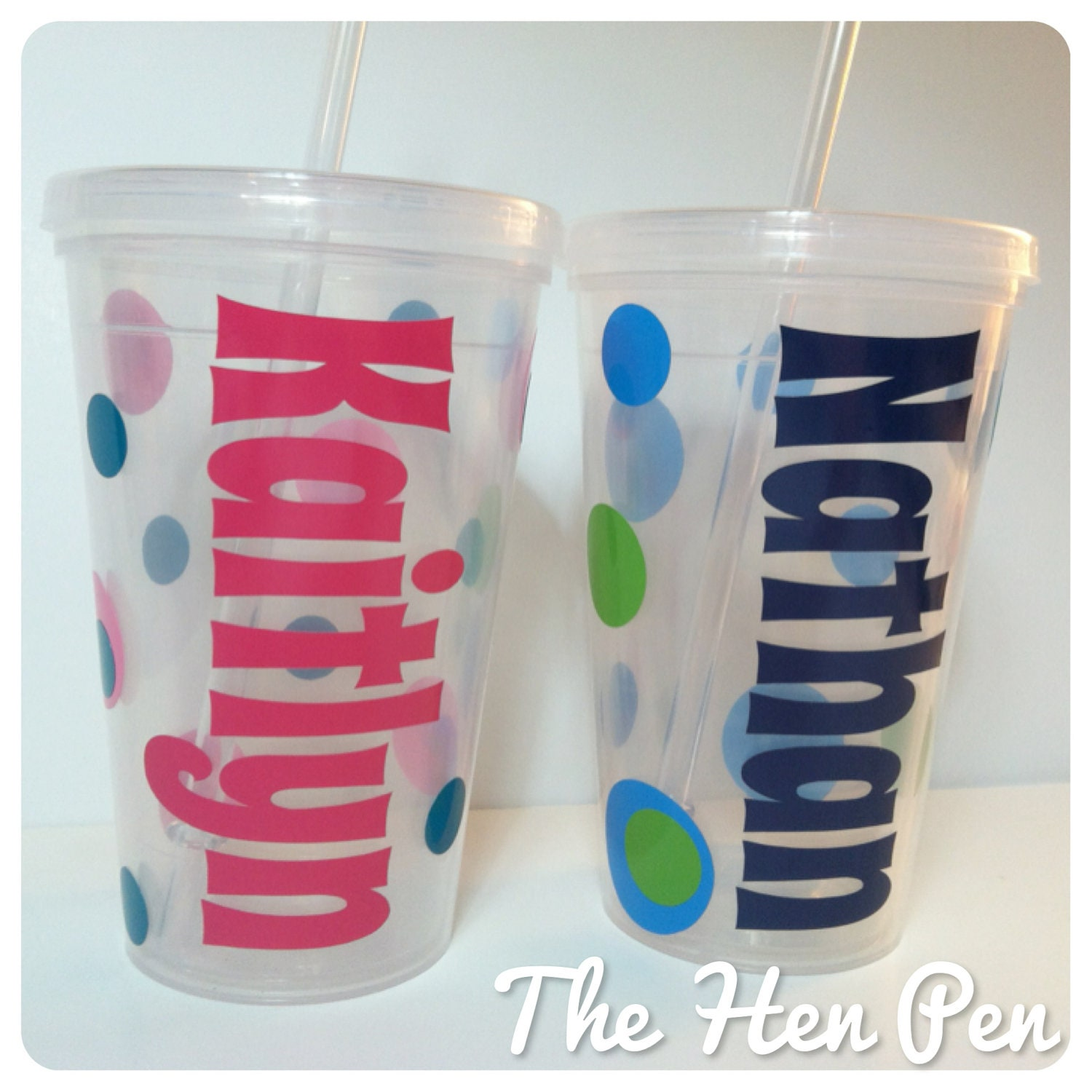 Clear Personalized Kids Cups 16oz Tumblers With By Thehenpen