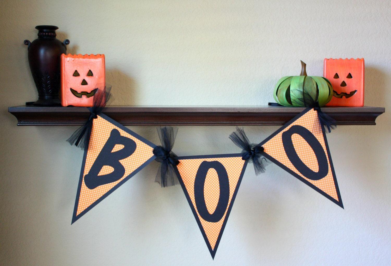 "Halloween ""BOO""  Mini Banner"