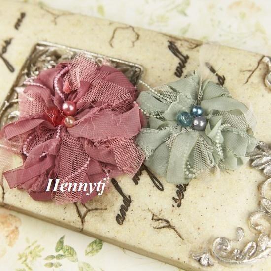 جدید : مجموعه گتسبی -- گل ابریشم مصنوعی گل تلفونی پارچه محض مروارید سنجاق سینه گل عروسی ساقدوش عروس شیرازه