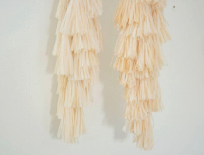 Garland Streamers: Long/Short streams in peach