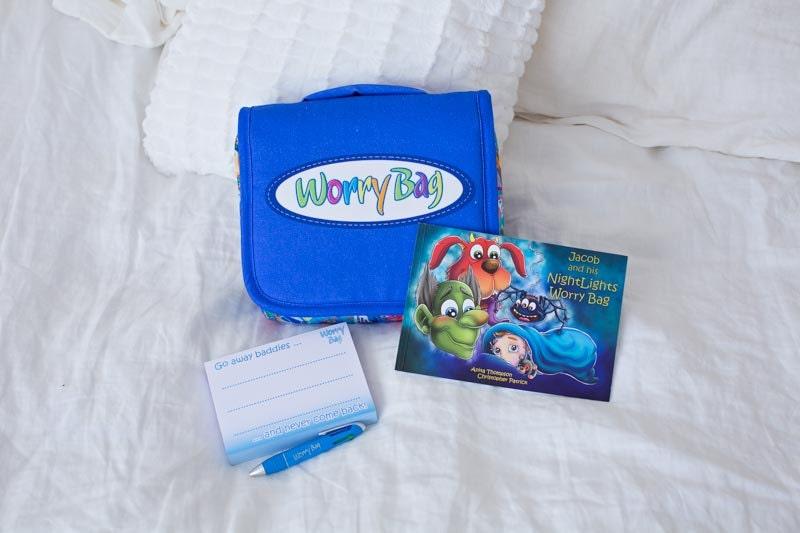 Blue Worry Bag Sleep Solution  Worry Bag  Anxiety  Nightmares  Sleep Aid  Worry Doll  Worry Box  Holistic