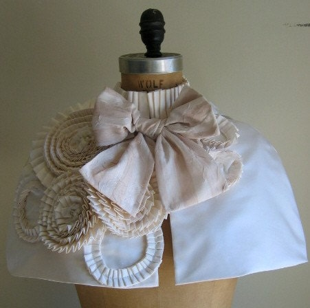 ANGELA BRIDAL CAPELET. CUSTOM. SPECIAL ORDER ONLY. (this capelet ready to ship within 2-3 weeks).