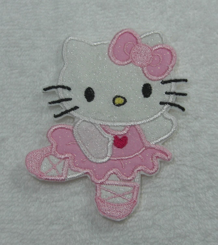 Hello kitty ballerina embroidered iron by theappliquepatch on etsy - Ballerine hello kitty ...