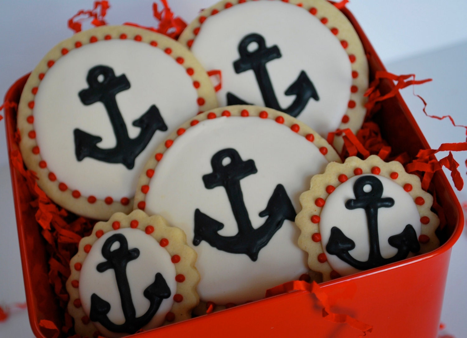 Anchor Decorated Sugar Cookies (12)