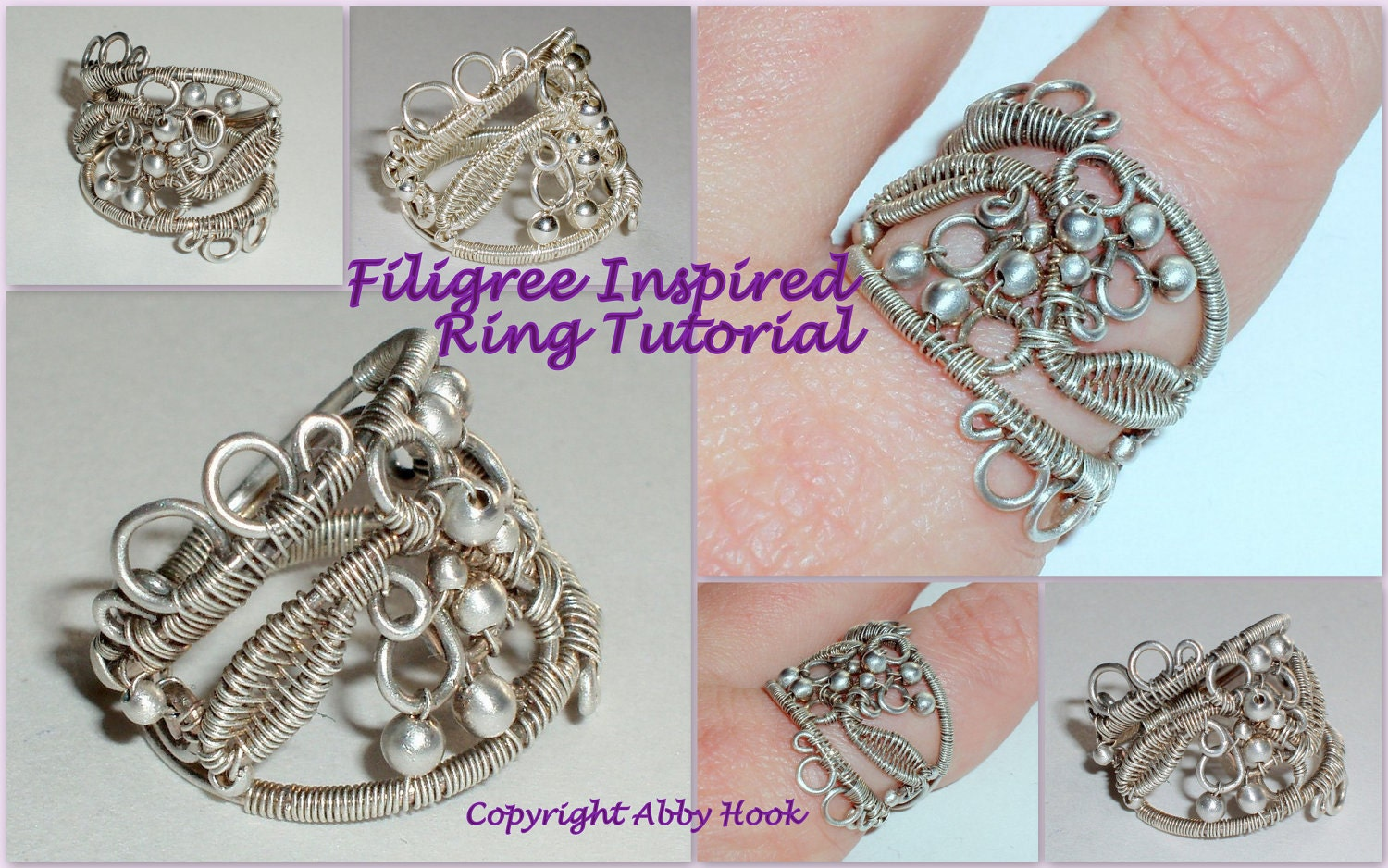 Filigree Inspired Ring, Wire Jewelr y Tutorial, Instant Download PDF