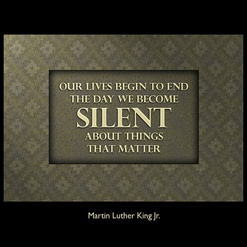 Martin Luther King Jr. Quote Wall Art, large fine art print