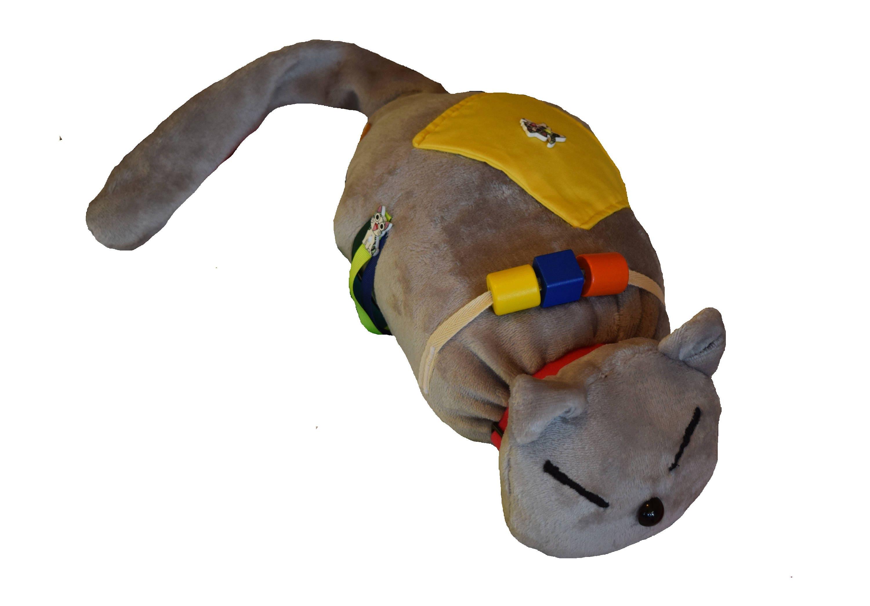 Grey Fidgety Cat  Weighted Sensory fidget toy  Activity for dementia