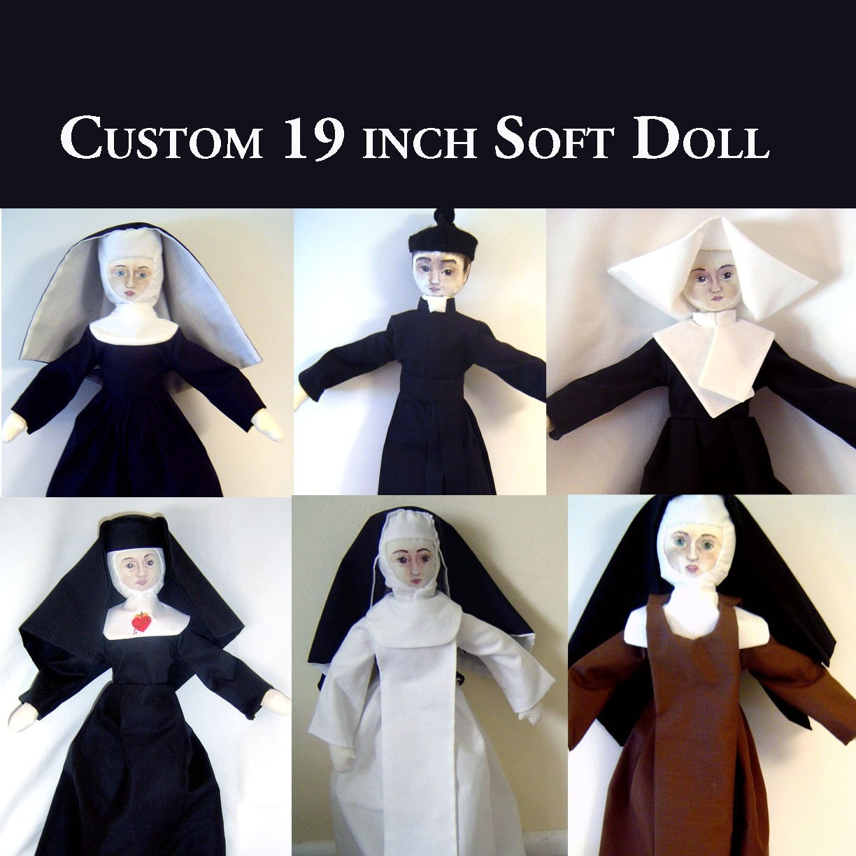 "Custom 19"" Cloth Doll"