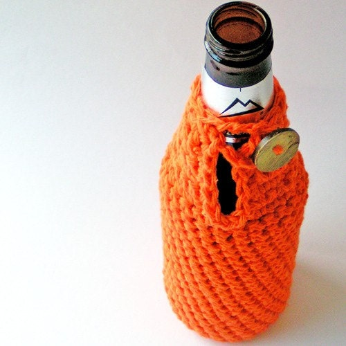 Crochet Patterns For Koozies : Beer Koozie Hand Crochet by whytehook on Etsy
