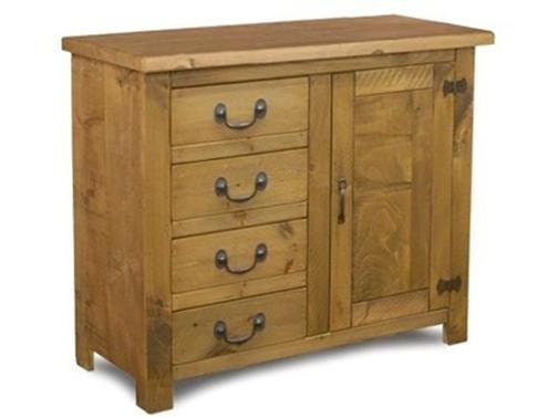 Rustic plank Furniture NEW Real Solid Wood Sideboard Dresser Base Cupboard Drawers and Doors Rustic Plank pine Sawn Pine Furniture