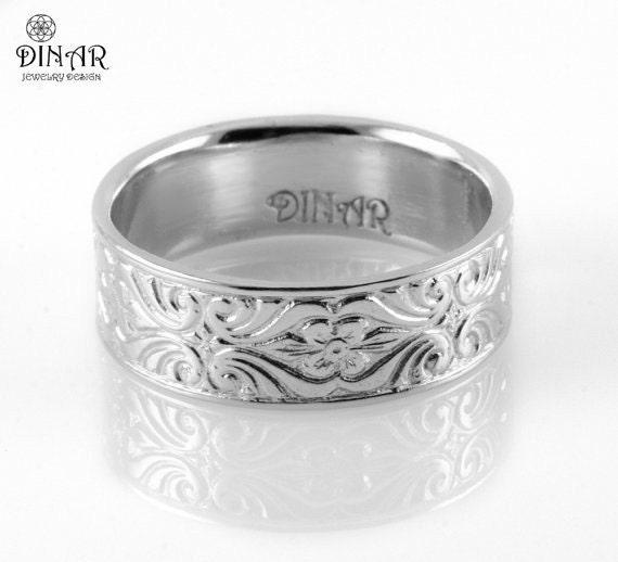 White Gold Wedding Rings For Women Gold Wedding Band K White