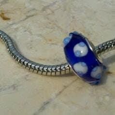 Beautiful Blue Pandora Style Bead