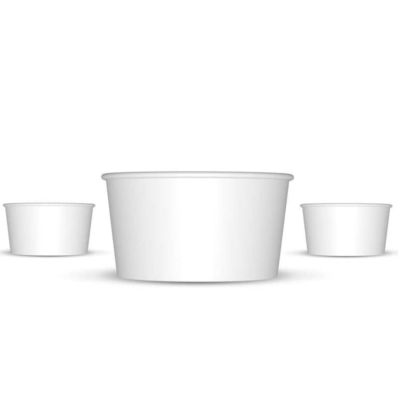paper ice cream cups Perfect for frozen yogurt and ice cream shops, these individual dessert cups can  be custom printed  4oz custom printed white paper dessert cups - 3 color.