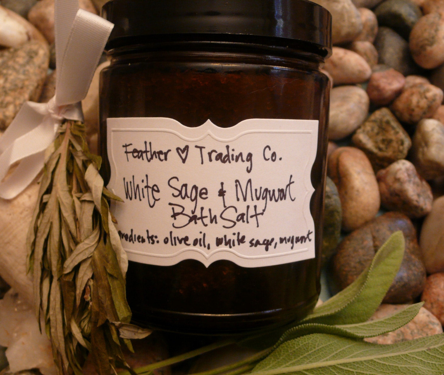 white sage and mugwort bath salt