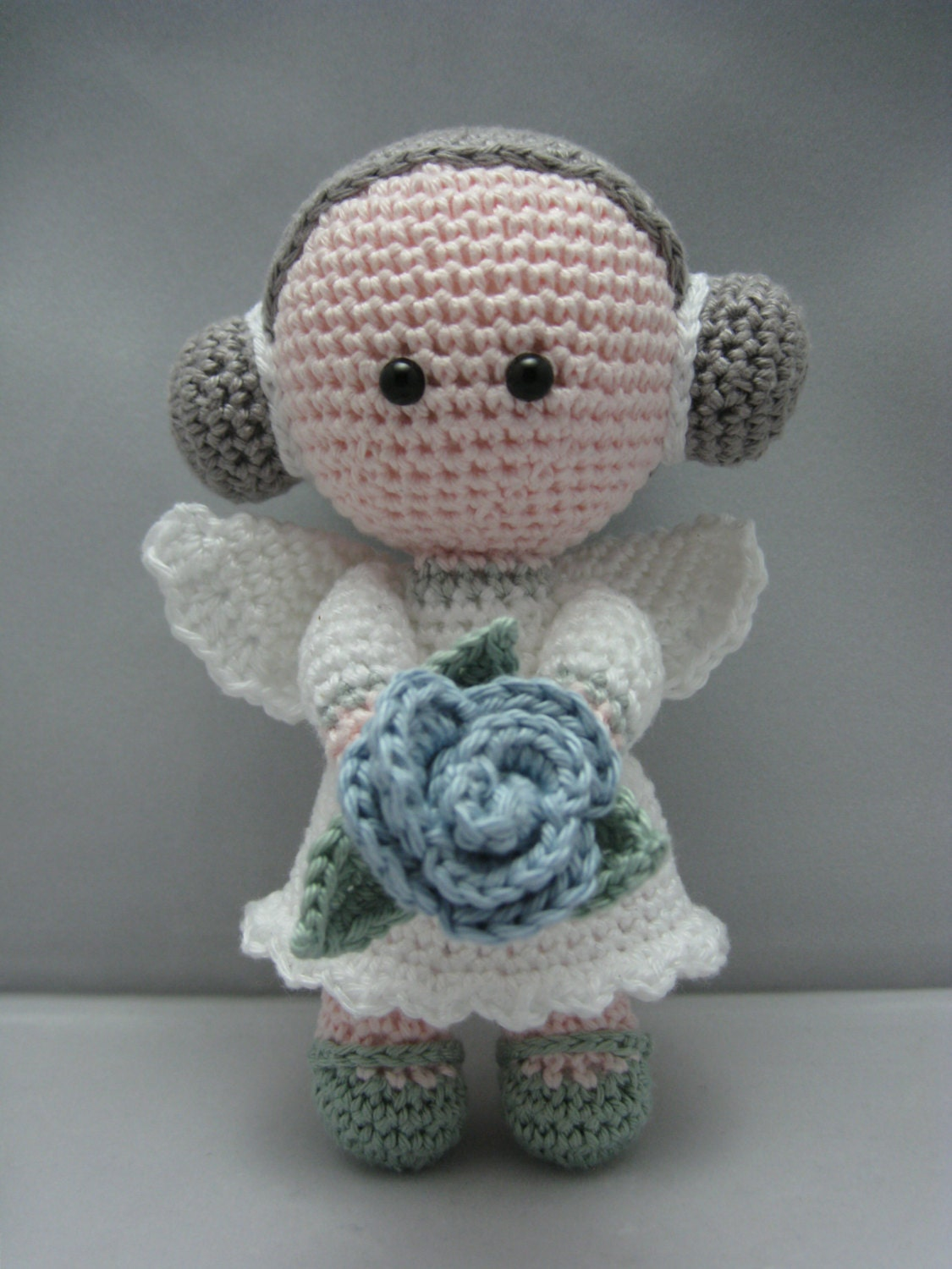 Free Amigurumi Flowers : Flower Angel Instant download Amigurumi doll by NenneDesign