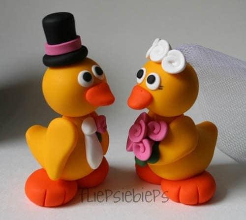 Custom Duck Wedding Cake Topper (Yellow)