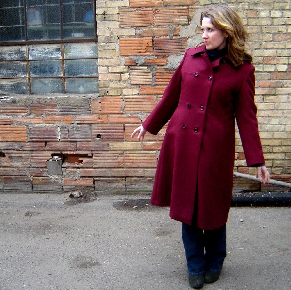 Red Wool Vintage Coat from JaVal
