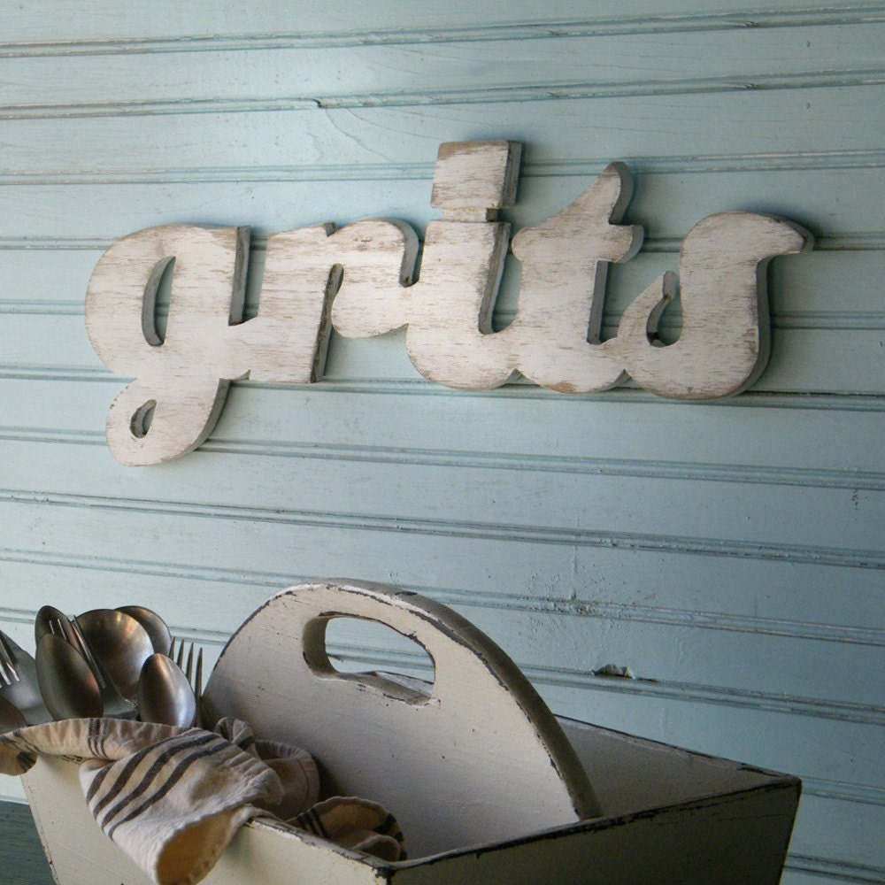 Grits Sign Southern Breakfast Kitchen Food Girls Raised in the South - SlippinSouthern