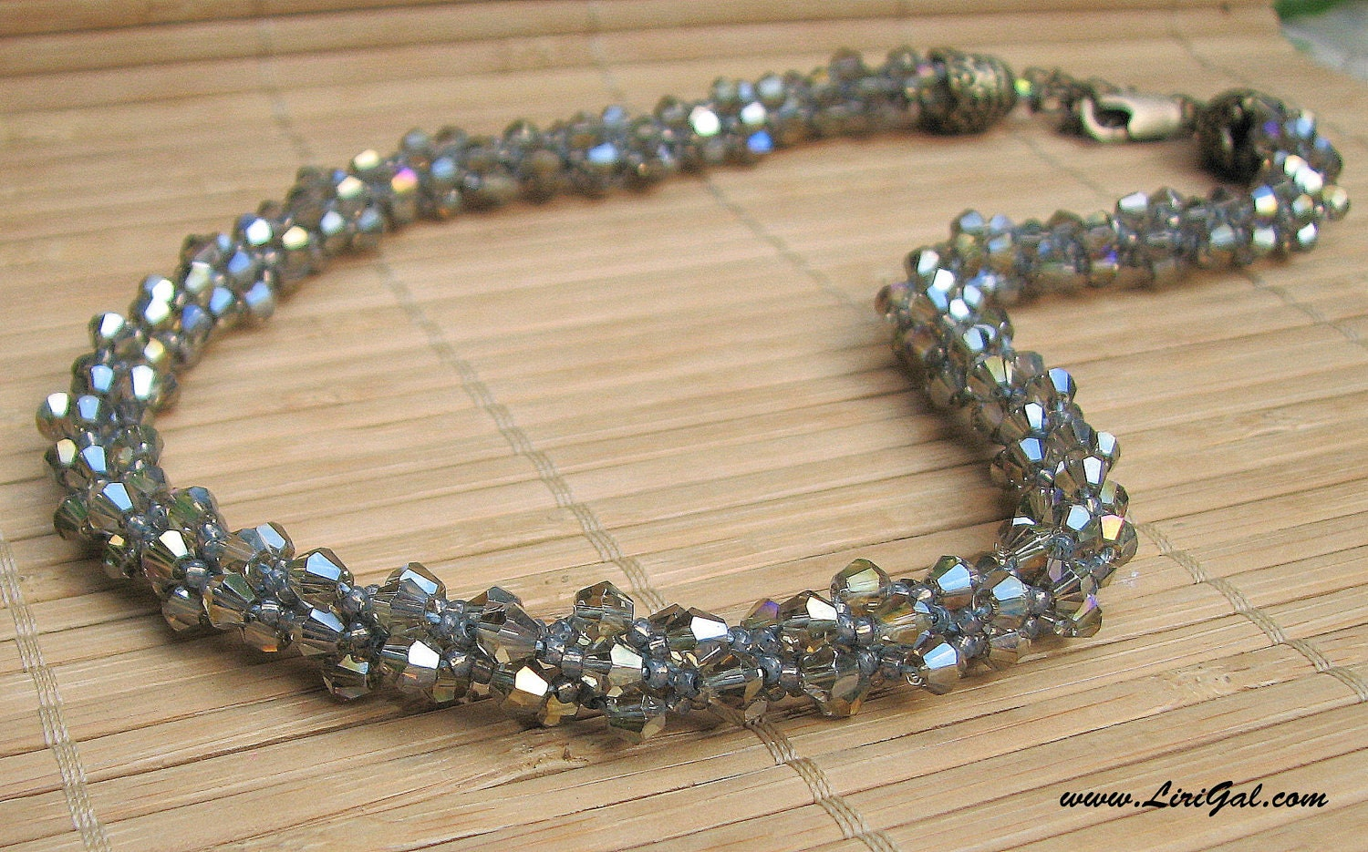 Mystic Light. Crystals Beaded Necklace