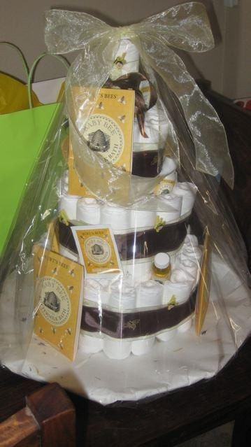Burts Bees Diaper Cake. Burt's Bees Diaper Cake 3 Tier