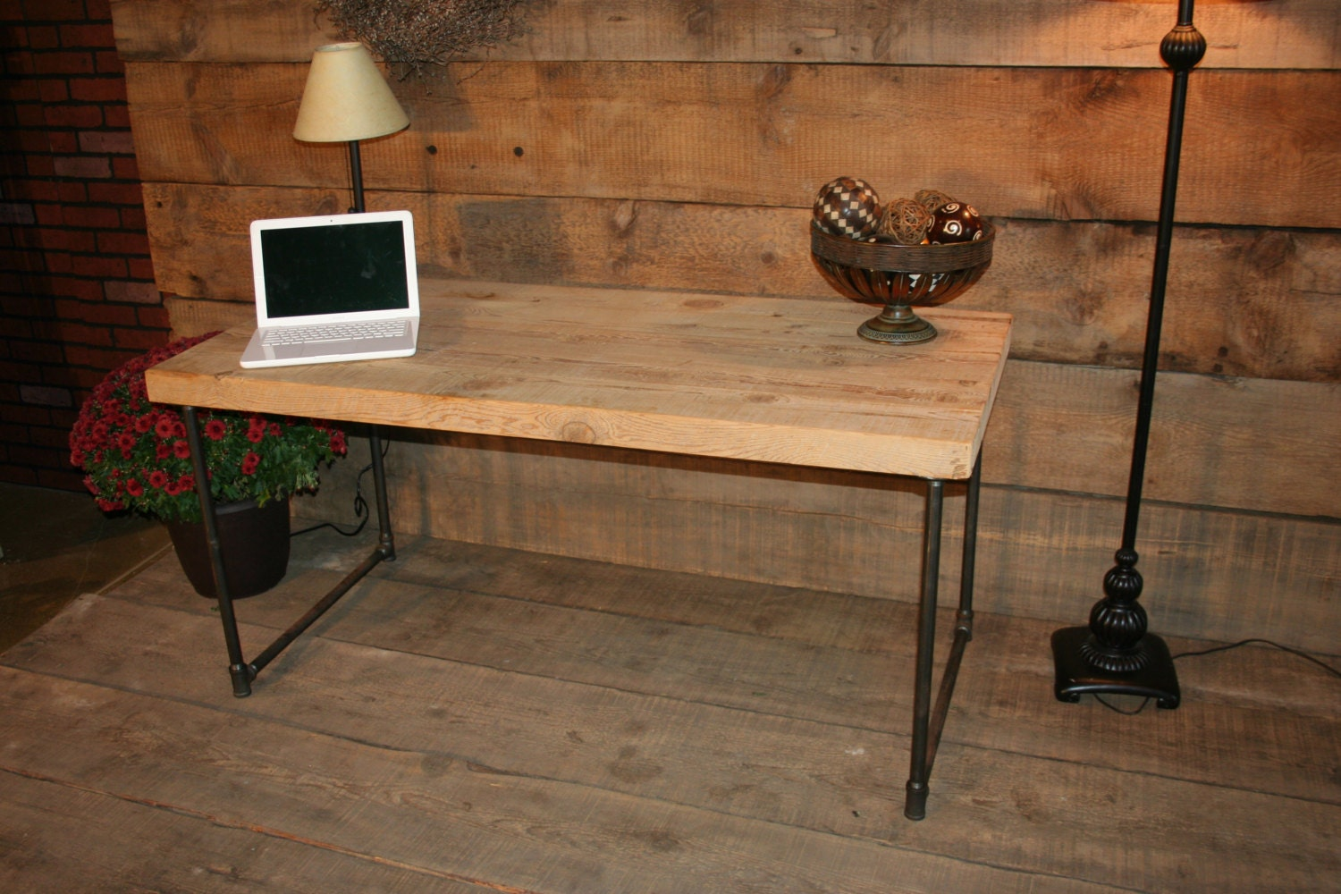 Reclaimed Wooden Computer Desk – Free Shipping – 2.5″ Thick Wood ...