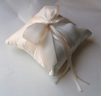 Romantic Satin Ring Bearer Pillow...You Choose the Colors...Buy One Get One Half Off.