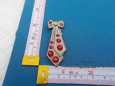 Vintage Art Deco Diamant and Paste Bow Dress Clip