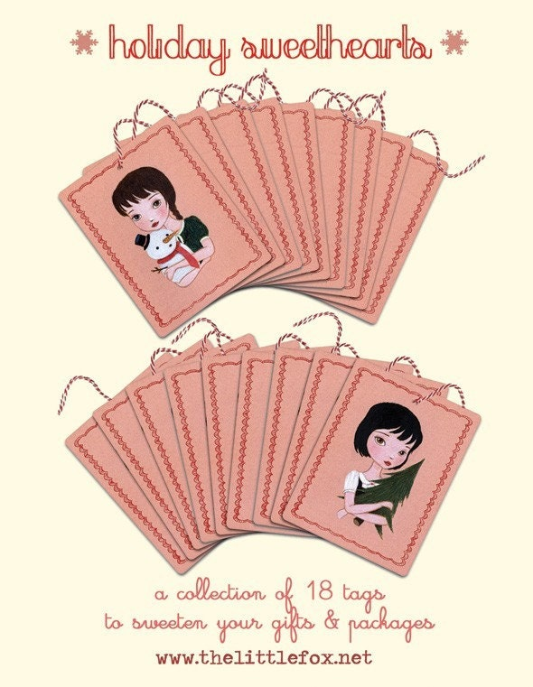 Holiday Sweethearts Gift Tags