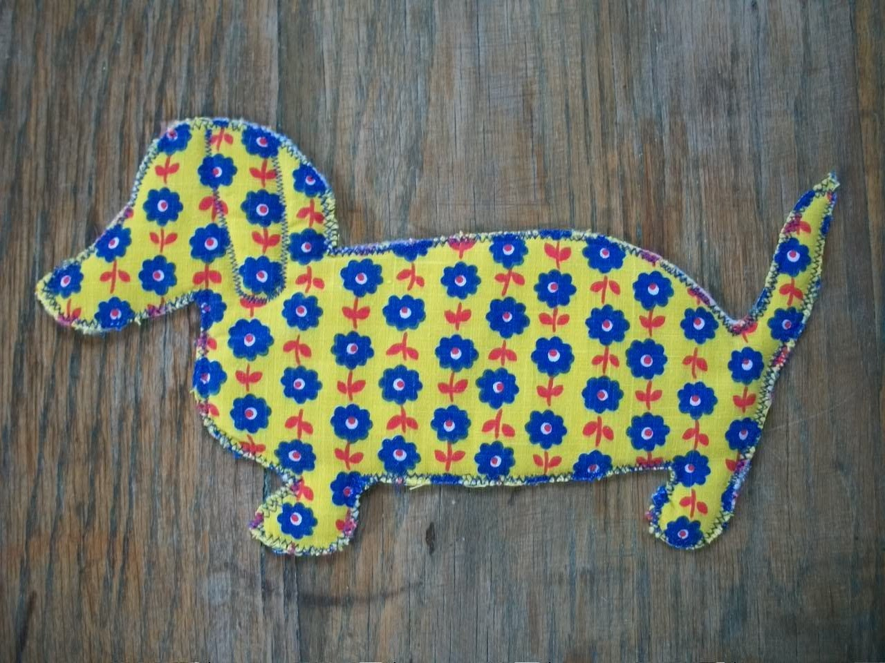 Dog Coasters/ Yellow Dachshund