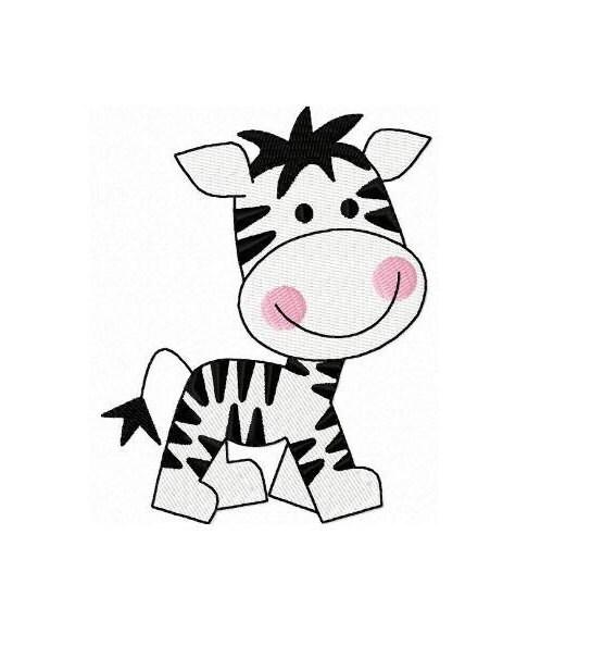 Zebra machine embroidery design instant download by funstitch