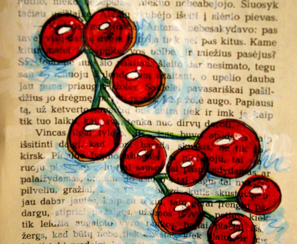 Cherry Tomatoes --- the foodie's best friend --- ORIGINAL drawing of these little fruits on the vine --- great for kitchens, chefs, new houses