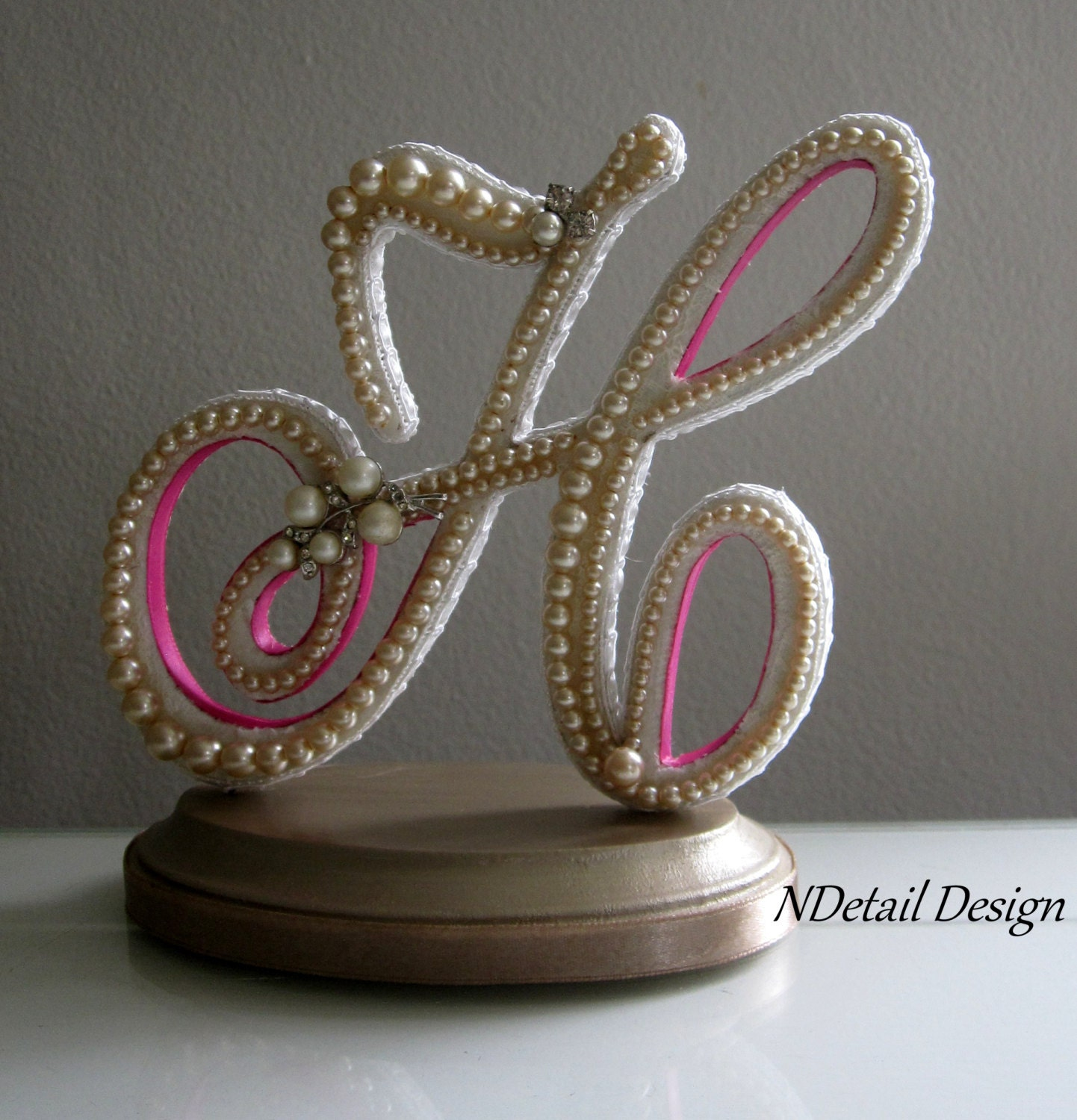 Wedding Cake Toppers Letter H : Items similar to Wedding Cake Topper Monogram Letter H ...