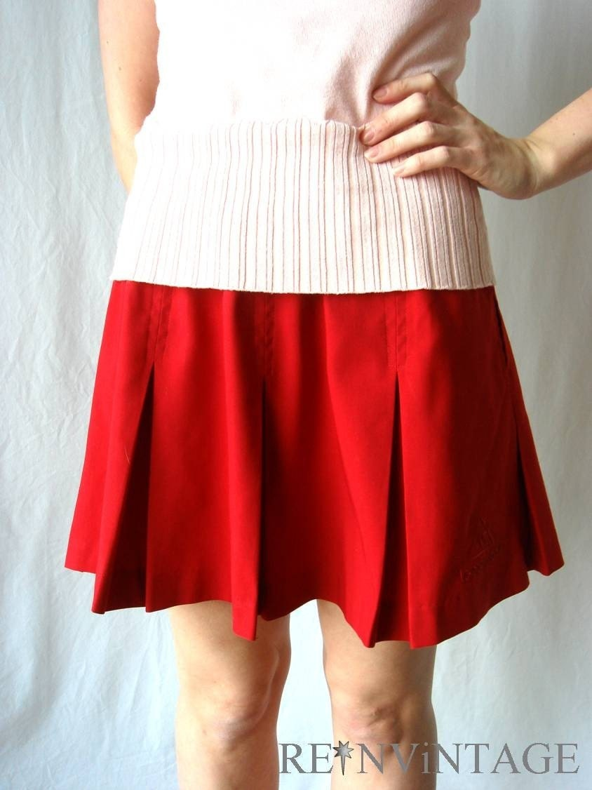 vintage LE COQ SPORTiF red tennis skirt