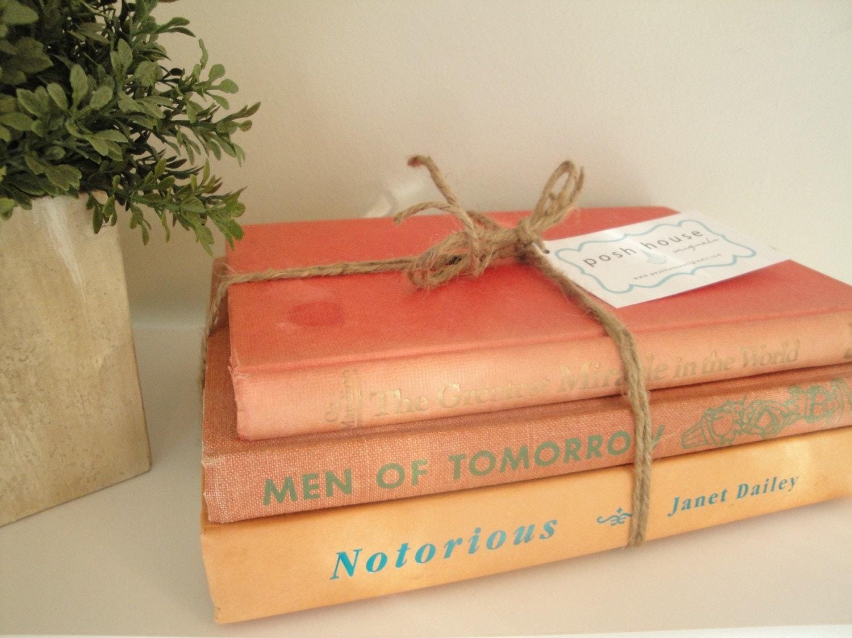 Vintage Sherbet Coordinating Book Stack