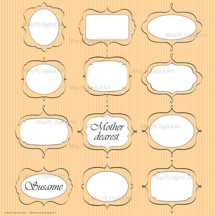 Fancy Rectangle Clip Art Digital frames clip art