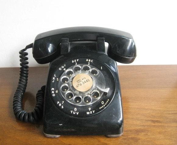Sale Black Rotary 1970s Phone By Twovintageavenue On Etsy