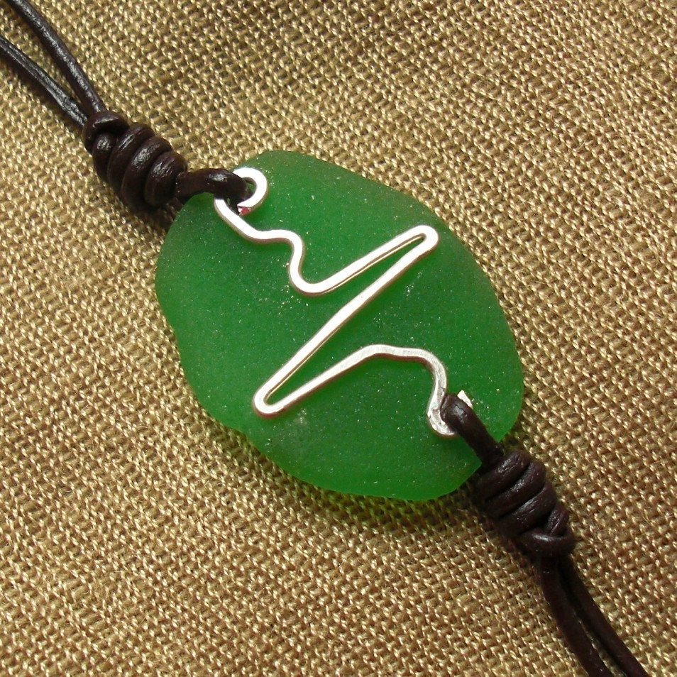 Heartbeat - Seaglass Bracelet