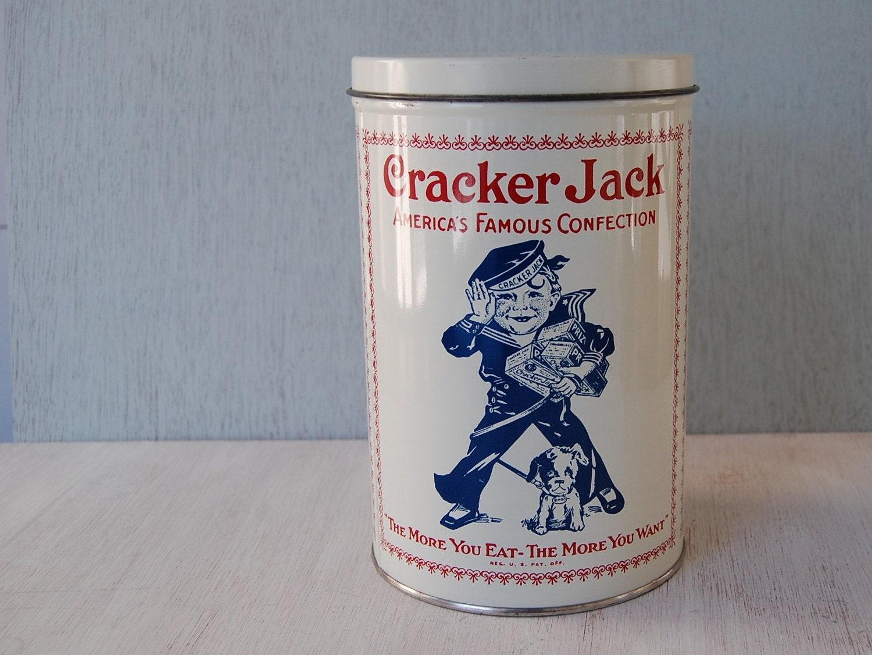 Vintage Cracker Jack Tin Canister 1980