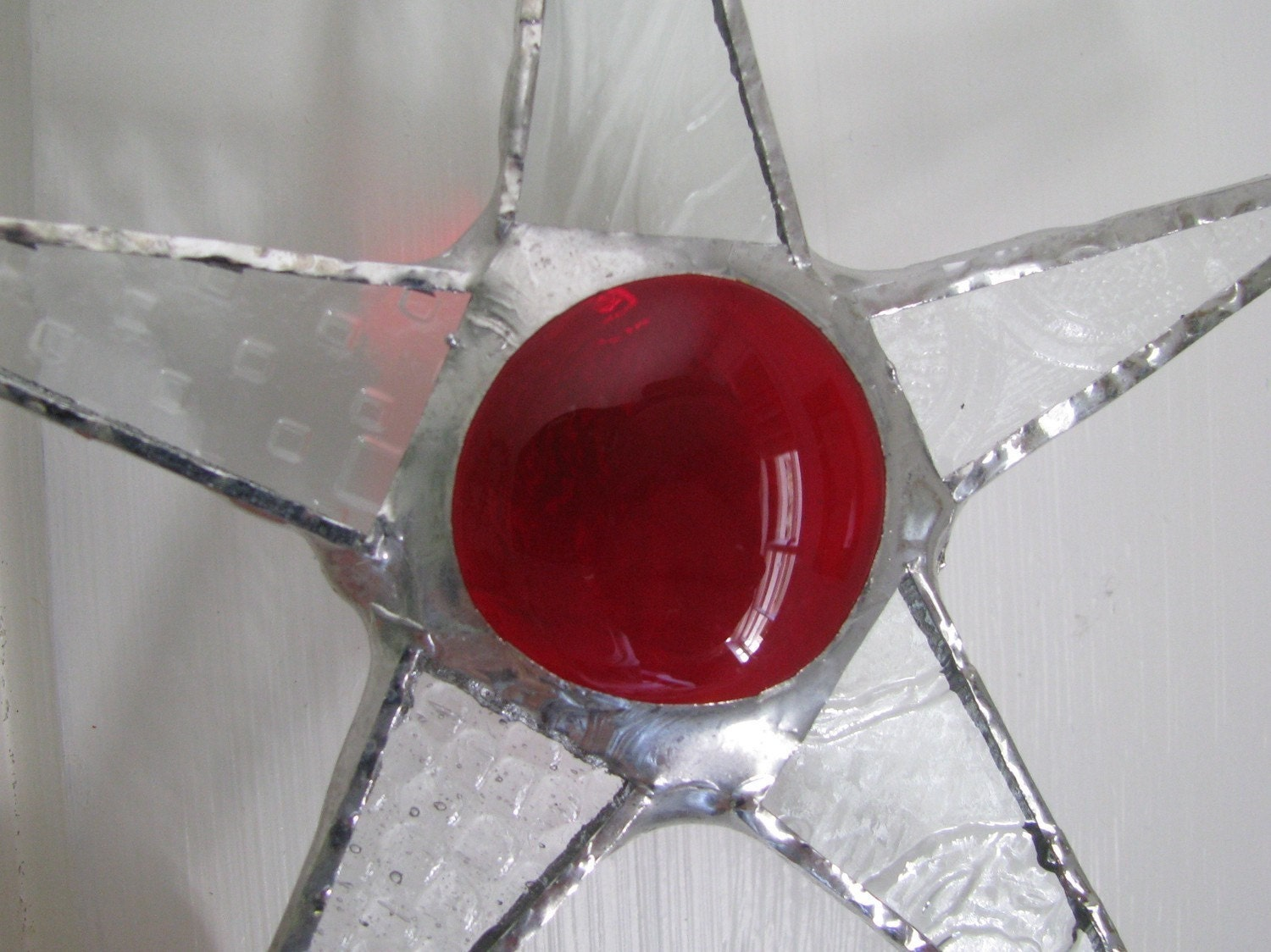 Patterned and Stained Glass Star- Une Petite Rouge